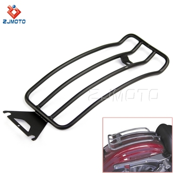 For HARLEY TOURING ROAD KING BAGGER stainless steel Silver Motorcycle Rear Luggage Carrier Rear Carrier Luggage Rack
