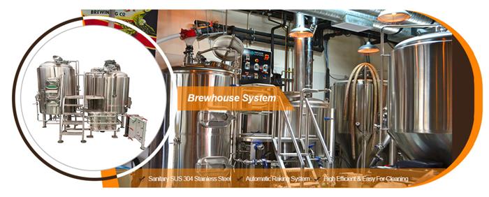 500L 1000L ขนาดเล็กสายการผลิตเบียร์ Micro Brewing Brewery อุปกรณ์