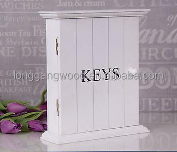 Shabby Chic White Wooden Key Box Rack Cabinet Cupboard KEYS Holder Storage