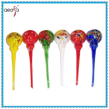 hand blown wholesale mixed color glass plant watering sphere bulb