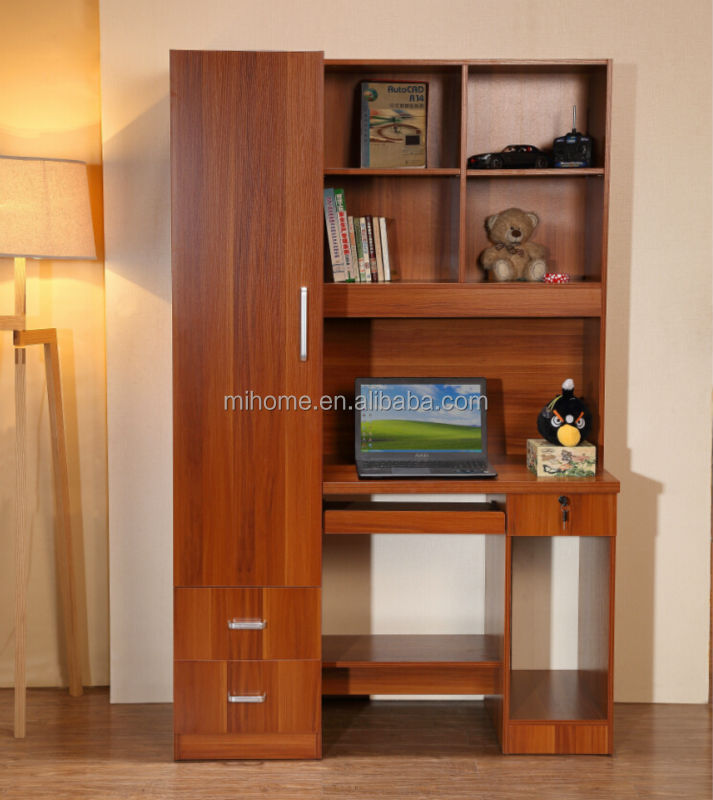 Exceptional CT J002 New Design Computer Table With Bookshelf