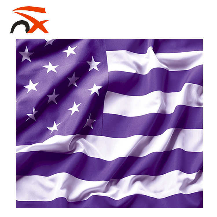 35ft 100 Polyester American Flag Purple For Outdoor