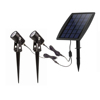 LED Solar Powered Spot Lights Outdoor Low Voltage Garden Spotlights Security Landscape Lighting for Outside Yard Lawn Deck