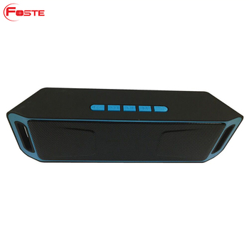 FT-208 Portable Wireless Bluetooth Speaker Stereo Soundbar TF FM USB Subwoofer Column for Computer Waterproof Speaker Bluetooth