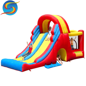 Children Baby Double Slide Inflatable China Bouncy Castle For Sale