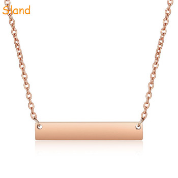 online shop china fashion women accessories personalized wholesale rose gold bar necklace for Anniversary Jewelry Gift