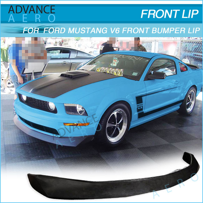 Hot Sale Body Kit For Ford Mustang V6 2dr 2005 2006 2007 2008 2009 Cv Style Black Poly Urethane Front Bumper Lip View Black Front Bumper Lip For Ford