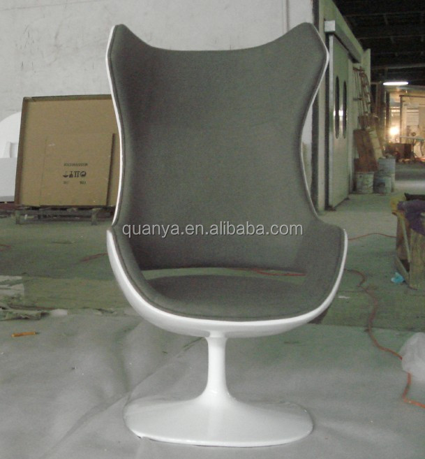 Fiberglass Evolution Armchair with High Wing Back Chair Swivel for Home