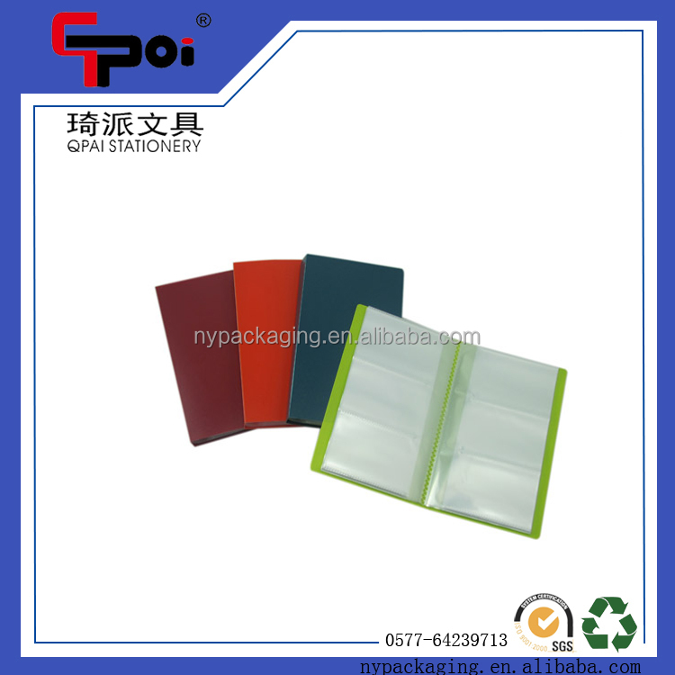 Office Stationery PP Cheap 3 Pocksts On Side Transparent Name Card Holder Business Card Holder