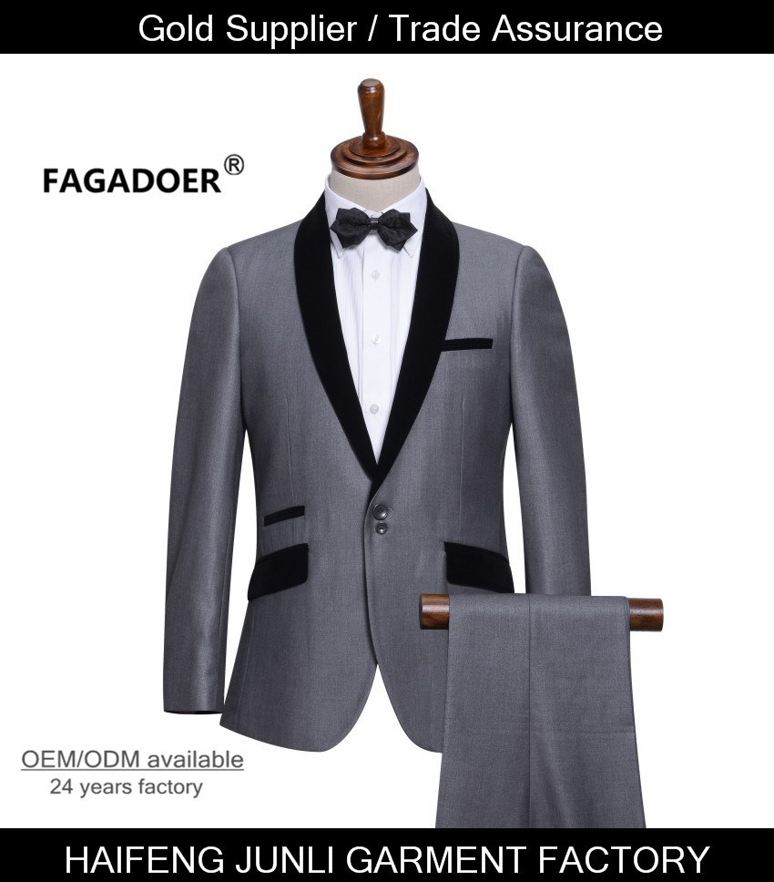 Top Quality Mens Slim Suits Set 3 Psc Blazer+Vest+Pants Groom Wedding Suits For Men Dress Suit Navy/Red/Grey Free Shipping