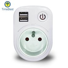 New Style Simple digital switch timer socket eu plug usb adapter