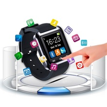 Factory Price Custom Design U80 Touch Screen LED Rubber Sport Wrist Silicone Smart Watch