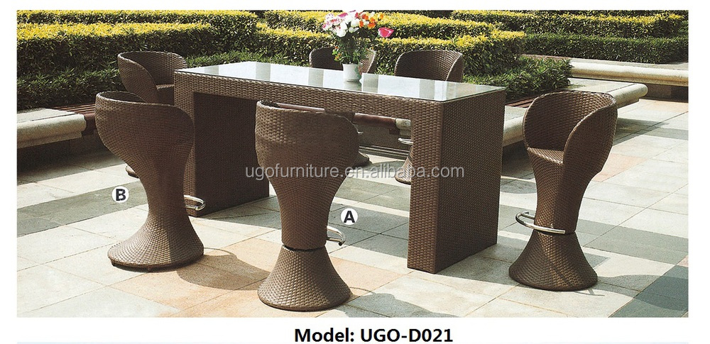 Wicker outdoor garden bar patio furniture 6 stools tall bar table and chairs & Wicker Outdoor Garden Bar Patio Furniture 6 Stools Tall Bar Table ... islam-shia.org