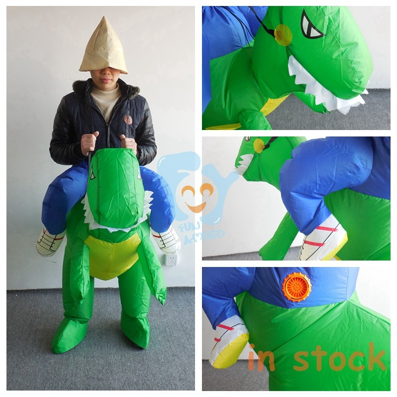 adult walking dinosaur mascot costume inflatable moving cartoon