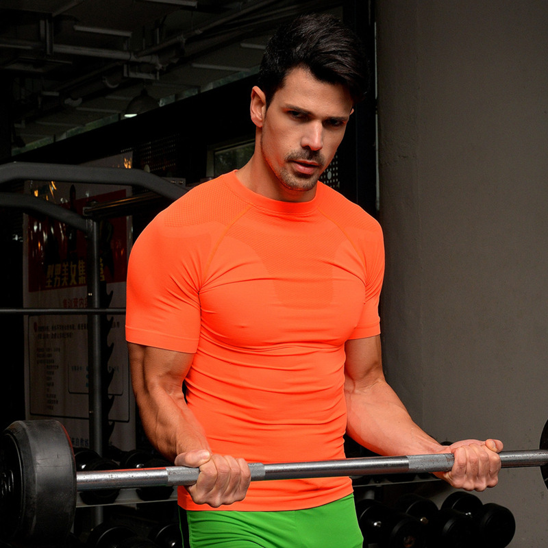 Customized Youth Compression Shirts Men Fitness Spandex CompressionT Shirts