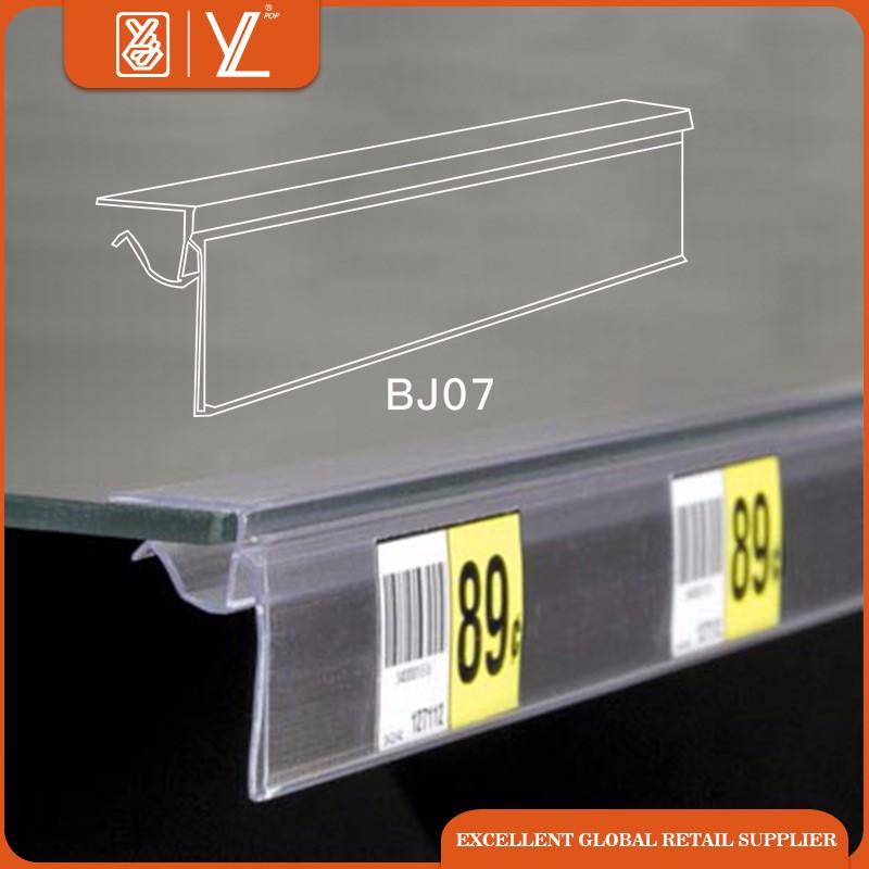 Assez étagère en verre PVC bande de données porte-étiquette de prix pour  UX09