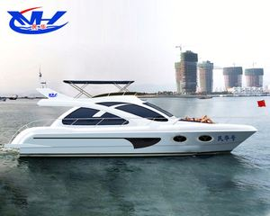 fiberglass jet high speed twin engine boat / yacht sale