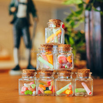Decorative Gl Sweety Candy Jar Wishing Used Small Size Bamboo Top Storage
