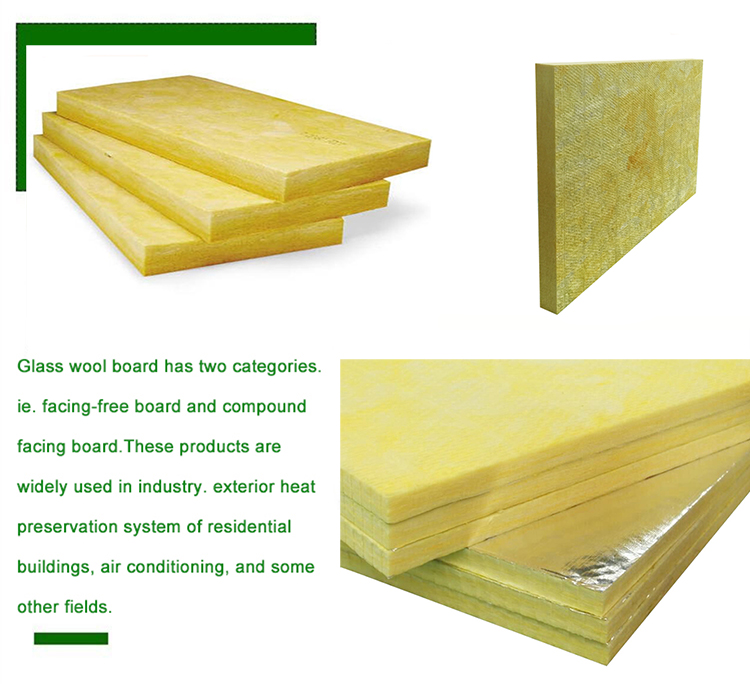 glass wool board for outdoor greenhouse and sound absorbing