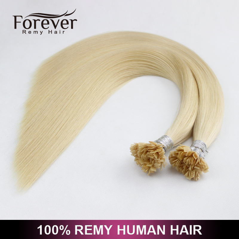 Wholesale 9A Indian Remy Human Hair Silky Straight Italy Keratin Light Color Flat Tip Hair