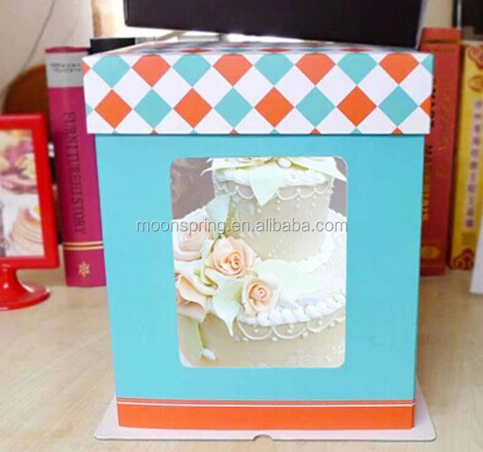 Yuyao Moonspring Custom Paper Packaging Tall Cake Box,Double ...