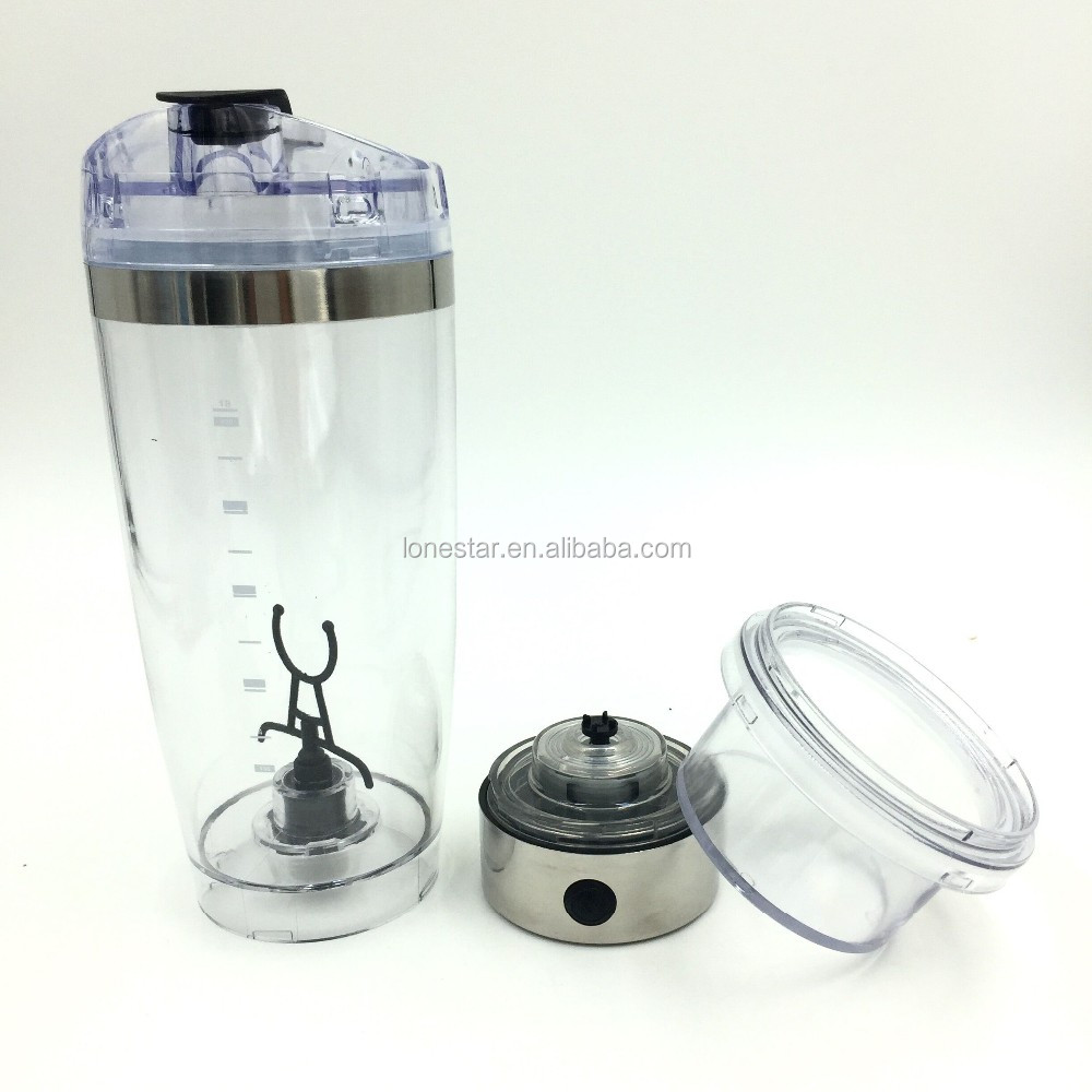 CE certificates 20oz,600ml stainless steel usb rechargeable protein shaker bottle shaker cup with storage
