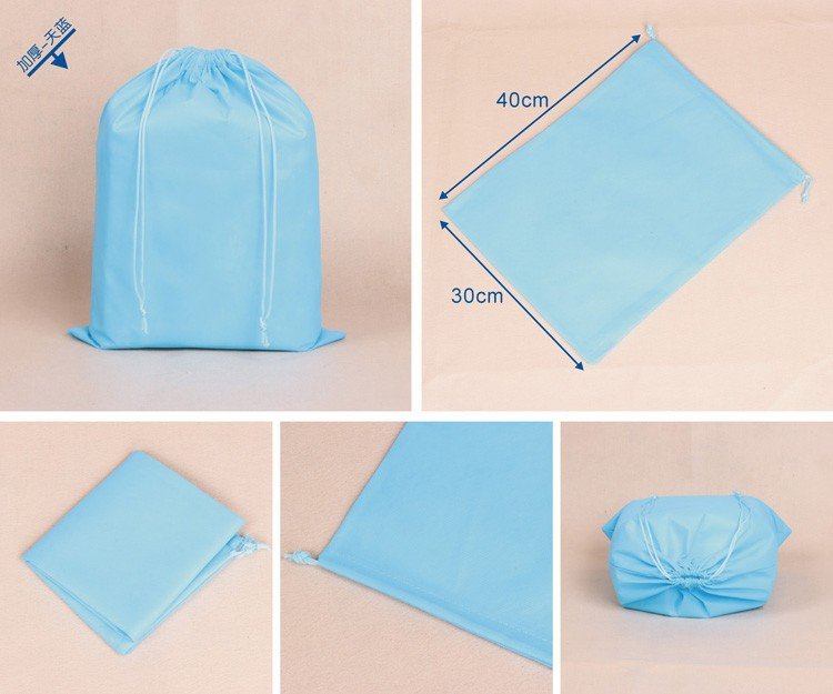 Custom gedrukt reizen biologisch afbreekbaar polyester hotel wasserij wash bag