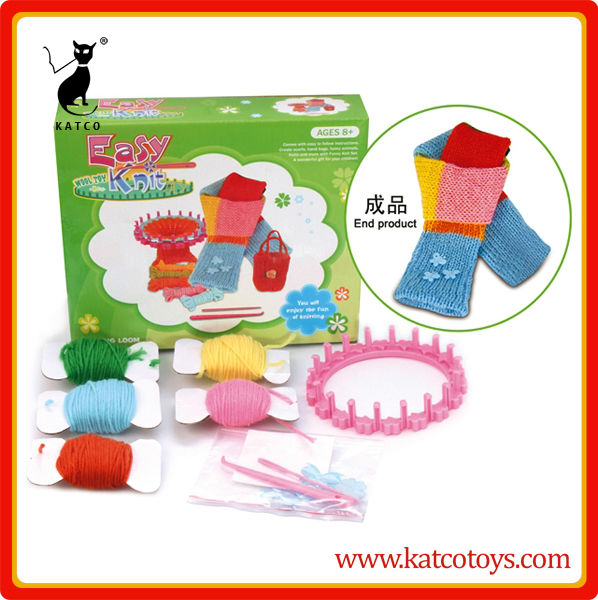 High quality scarf kit educational kids knitting set