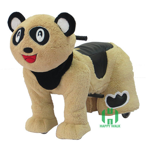 HI panda Electric Walking Animal Ride for Kids Plush Animal panda Ride On Toy