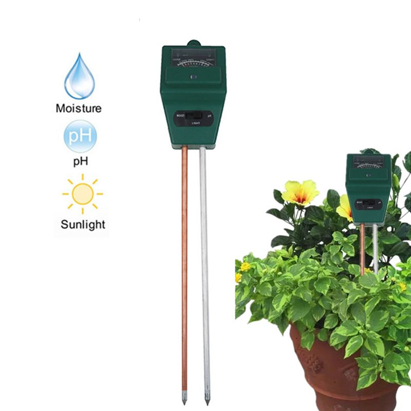 hot sales Flowers Kits 3 in 1 Plant Soil PH Test Tester Illuminance Analyzer Moisture Meter Light Plant Tool