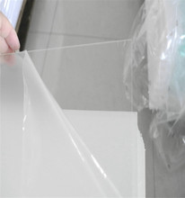 Flexible acrylic sheet plastic sheets1.2mm extruded clear plexiglass PMMA size 1830*1220mm