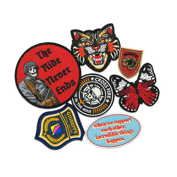 Custom high quality embroidered heat press patches