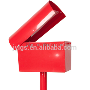 metal standing mailbox with post