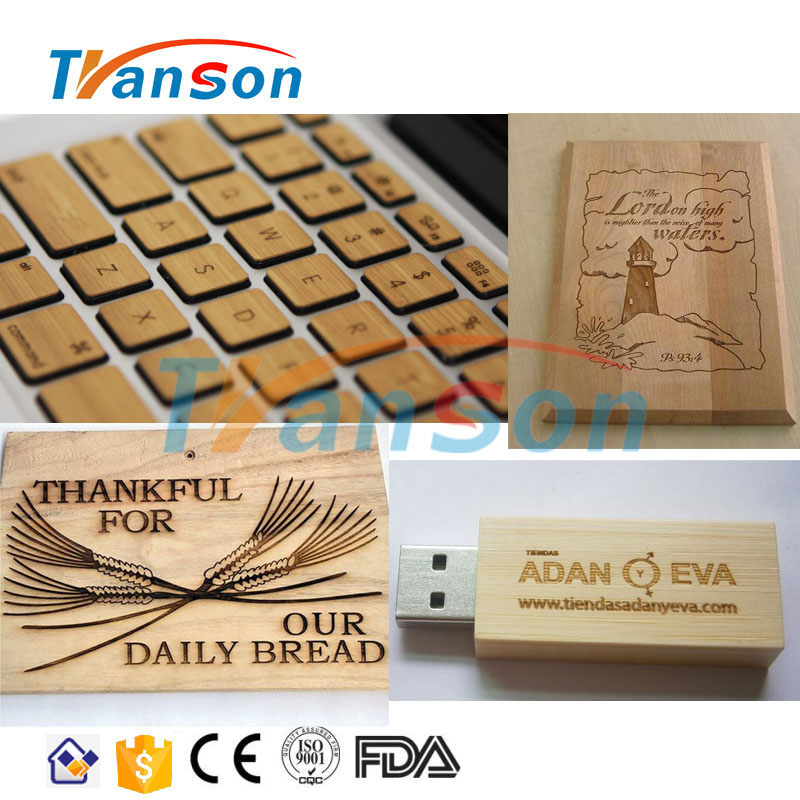 CO2 RF Metal Tube 30W Laser Marking Machine For Bamboo Wood Plastic Quick Cutting Leather