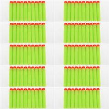 100 шт./компл. 10 цветов дротика для заправки, универсальные стандартные пустотелые пули из пенопласта для игрушечного пистолета Nerf, флуоресце...(Китай)