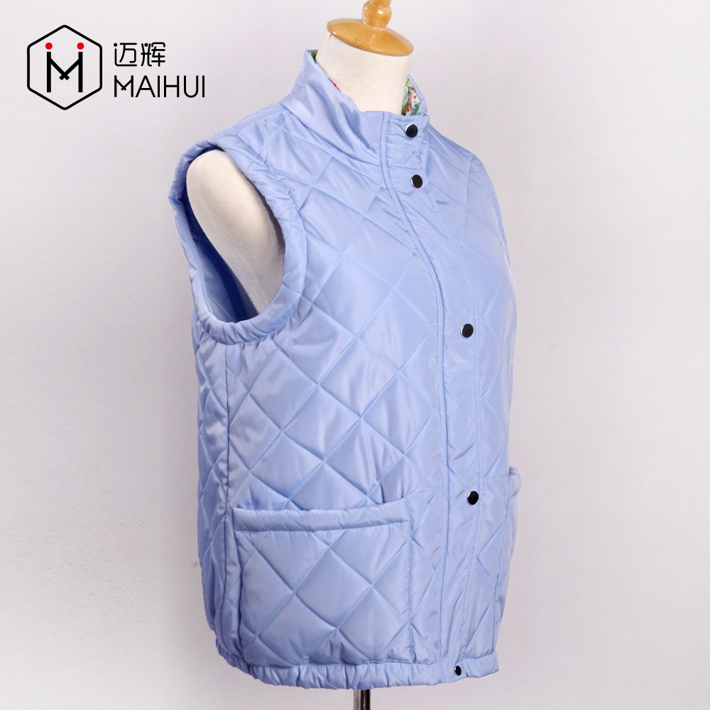 Cheap Polyester Vest & Waistcoat Custom Quilted Jackets Woman Padded Vest
