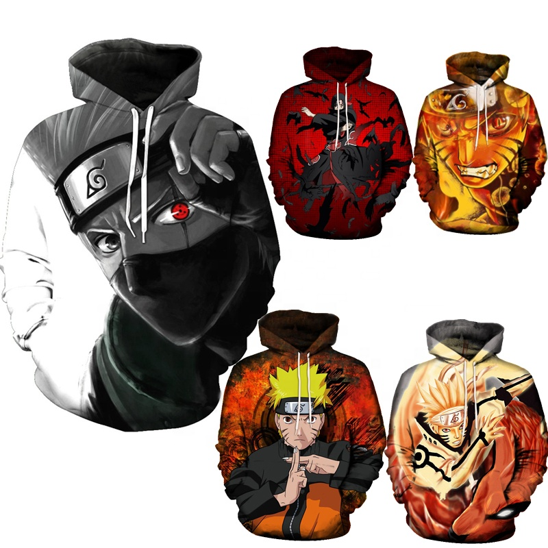 ecowalson Custom made Unisex Naruto 3D Print Pullover <strong>Hoodie</strong> Sweatshirt With Kangaroo Pocket Cosplay Anime <strong>hoodie</strong>