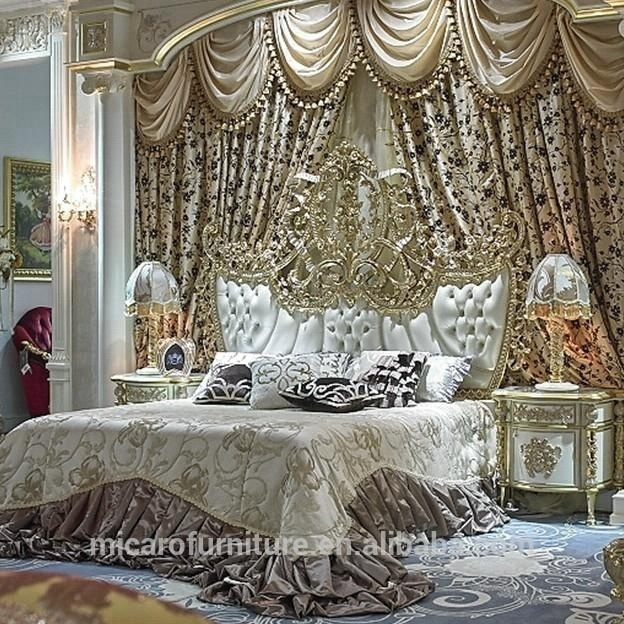 High Level Brass And Wooden Royal Furniture Antique Bedroom For Villa - Buy  Royal Furniture Antique Bedroom,Solid Wood Bedroom Furniture,Antique White  ...