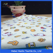 Hanlin textile wholesale 20*10 40*42 brushed woven cotton flannel fabric for pajamas and baby clothes