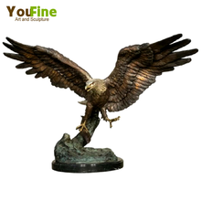 Outdoor Sculptures Metal Craft Bronze Large Eagle Statue