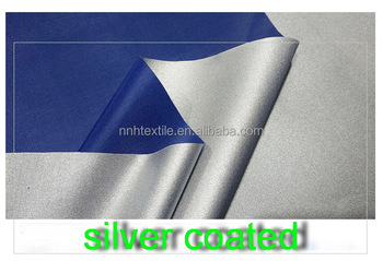 waterproof fabric for umbrella,190t pongee umbrella fabric 100% polyester,silver coated fabric