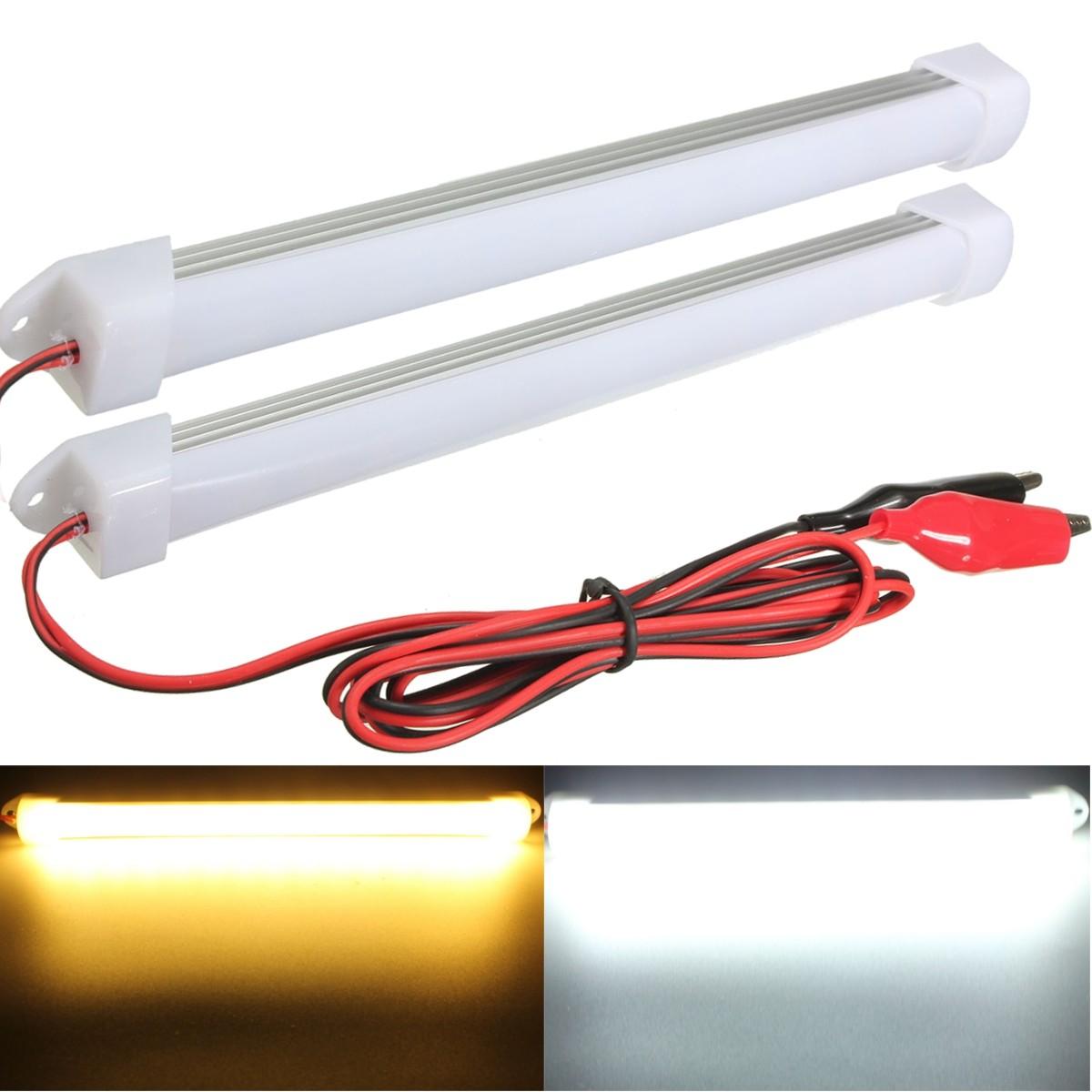Interior Led Lights For Home: 2015 New 2PCS 12V LED Car Interior Light Bar Tube Strip