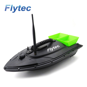 Flytec 2011-5 Fish Finder Boat 1.5kg Loading Electric Fish Finder Tools Sea RC Fishing Bait Boat Remote Control Toy Green