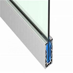 Balcony Railing Extrusion Profile 6000 Series Anodized Aluminum U Channel  For Glass Shower Doors