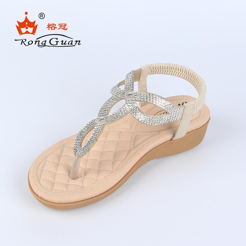f29a40b1a3d83f Women Pu Elastic Sandal Wholesale