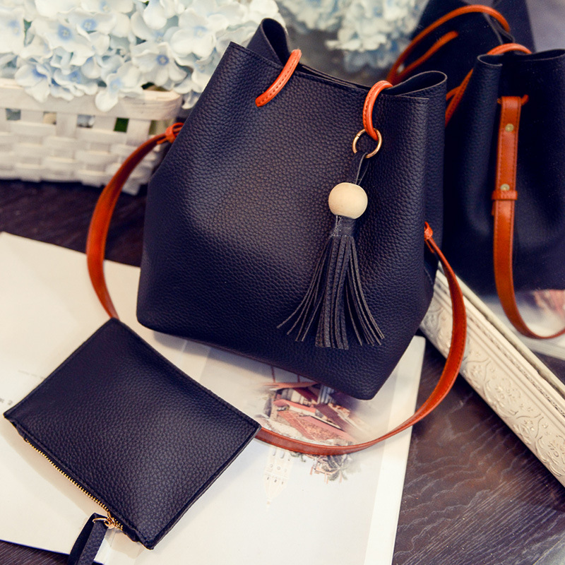 New bucket bag women's mother bag fall fashion new tote handle shoulder crossbody bag
