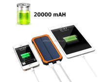 Solar Charger, Solar External Battery Pack, Portable 20000mAh Dual USB Solar Battery Charger Power Bank Phone Charger