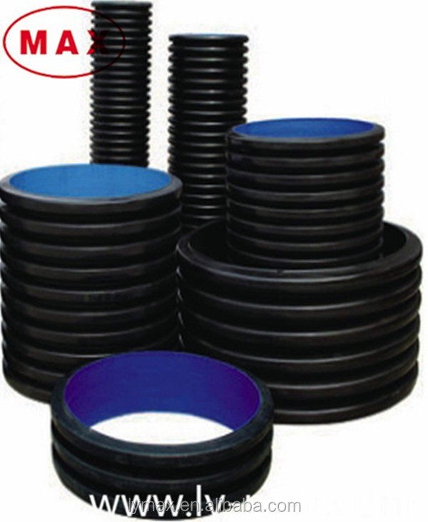 24 inch drain pipe large diameter double wall corrugated plastic pipe