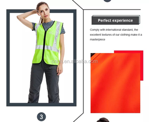 Perfect workmanship breathable flashing led safety vest for sale