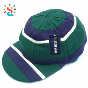 Mens custom 100% polyester cricket cap Double colour 3D embroidered baggy cricket caps fleece sports hats